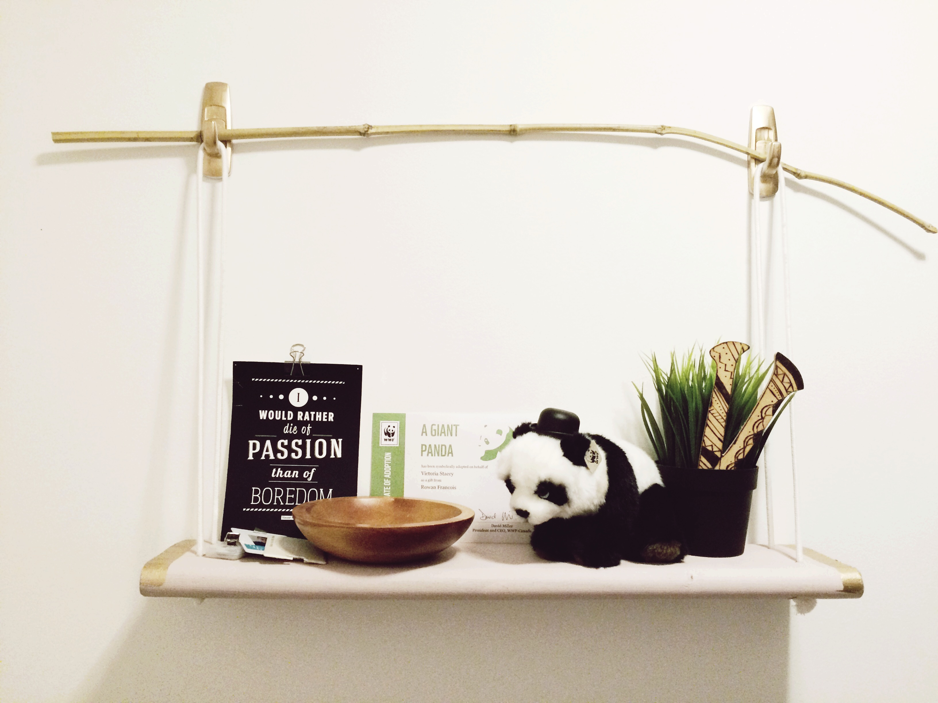 DIY Renter's Shelf